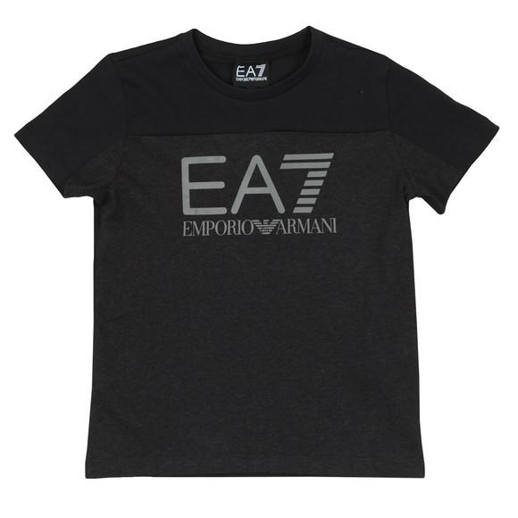 EA7 Emporio Armani Boys Grey 2 Tone Logo T-Shirt main image