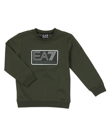 EA7 Emporio Armani Boys Green Large Box Logo Sweatshirt