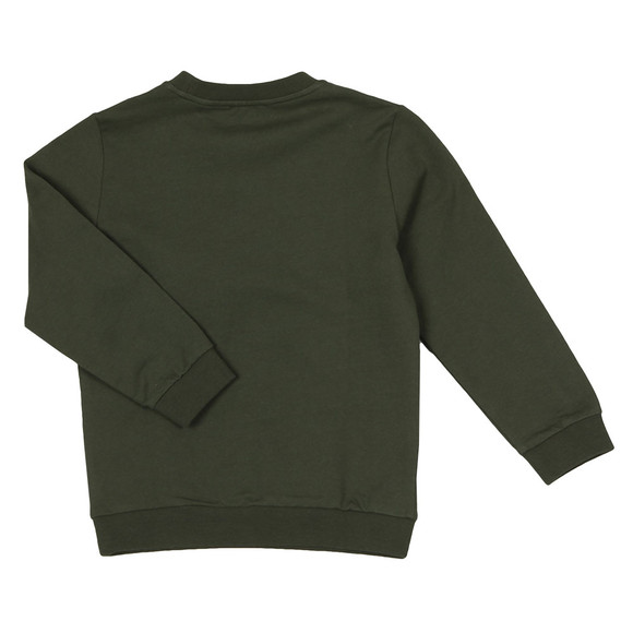 EA7 Emporio Armani Boys Green Large Box Logo Sweatshirt main image