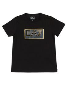 EA7 Emporio Armani Boys Black Boys Box Logo T Shirt