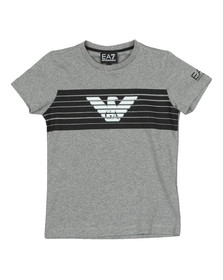 EA7 Emporio Armani Boys Grey 6ZBT54 T Shirt