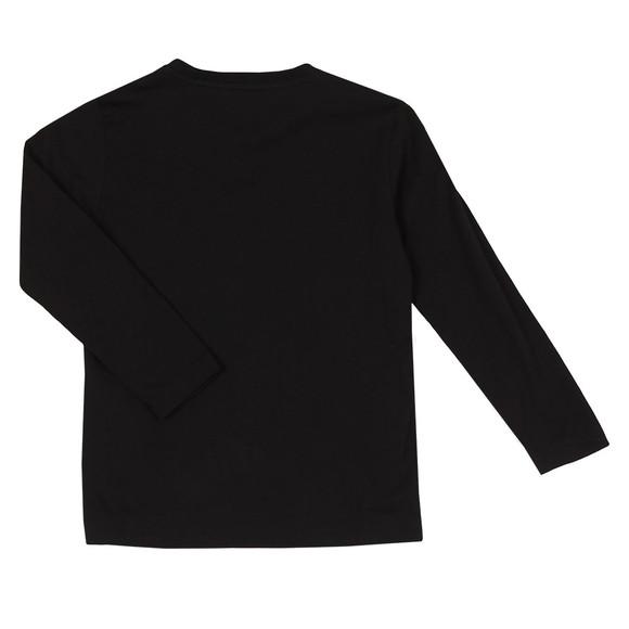 EA7 Emporio Armani Boys Black Small Logo Long Sleeve T Shirt main image
