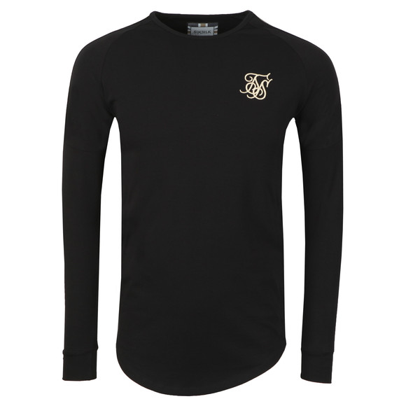Sik Silk Mens Black Cartel LS Gym Tee main image