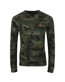 True Religion Mens Green Crew Sweatshirt