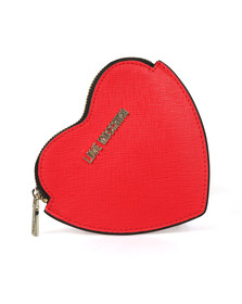 Love Moschino Womens Red Love Heart Purse