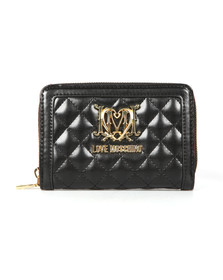 Love Moschino Womens Black Quilted Nappa Wallet