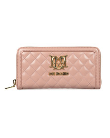Love Moschino Womens Pink Portafogli Quilted Purse