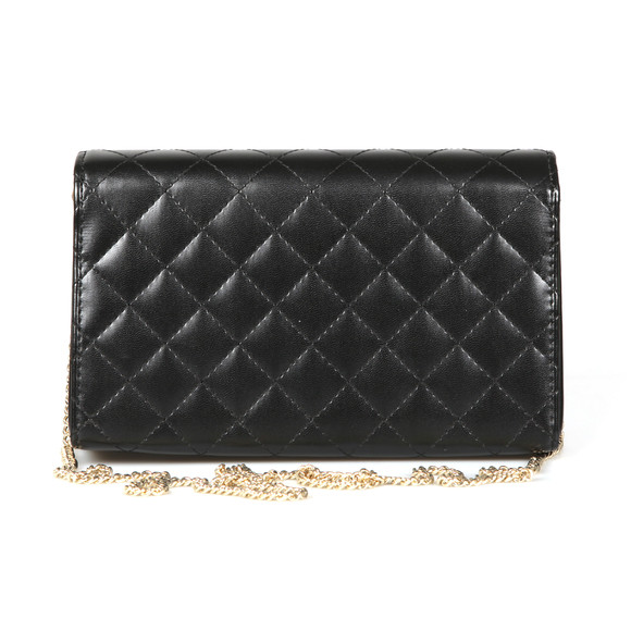 Love Moschino Womens Black Borsa Quilted Clutch main image
