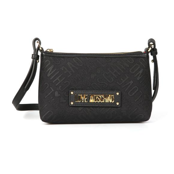 Love Moschino Womens Black Borsa Tess Canvas Bag main image