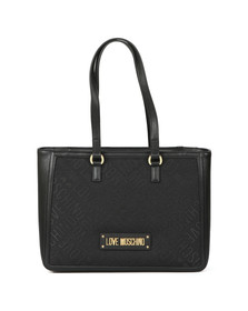 Love Moschino Womens Black Borsa Tess Large Canvas Bag