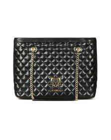 Love Moschino Womens Black Borsa Large Quilted Nappa Tote