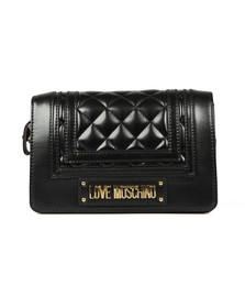 Love Moschino Womens Black Borsa Quilted Mix Bag