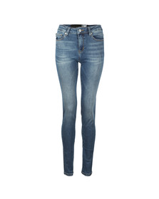 Love Moschino Womens Blue Slim Jean