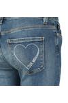 Love Moschino Womens Blue Slim Jean