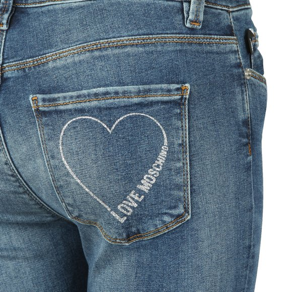 Love Moschino Womens Blue Slim Jean main image