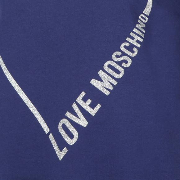 Love Moschino Womens Blue Heart Logo Sweatshirt main image