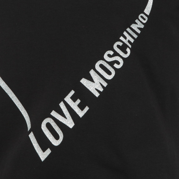 Love Moschino Womens Black Heart Logo T Shirt main image