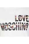 Love Moschino Womens White Cheerleader Logo T Shirt