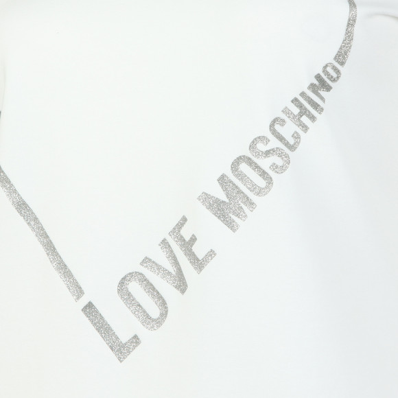 Love Moschino Womens White Heart Logo T Shirt main image