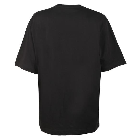 Love Moschino Womens Black Oversized Box Logo T Shirt main image