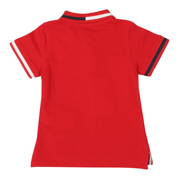 Emporio Armani Baby Boys Red 6ZHF01 Tipped Polo Shirt main image