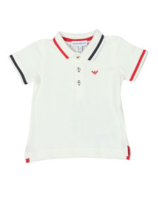 Emporio Armani Boys Off-White Baby 6ZHF01 Tipped Polo Shirt
