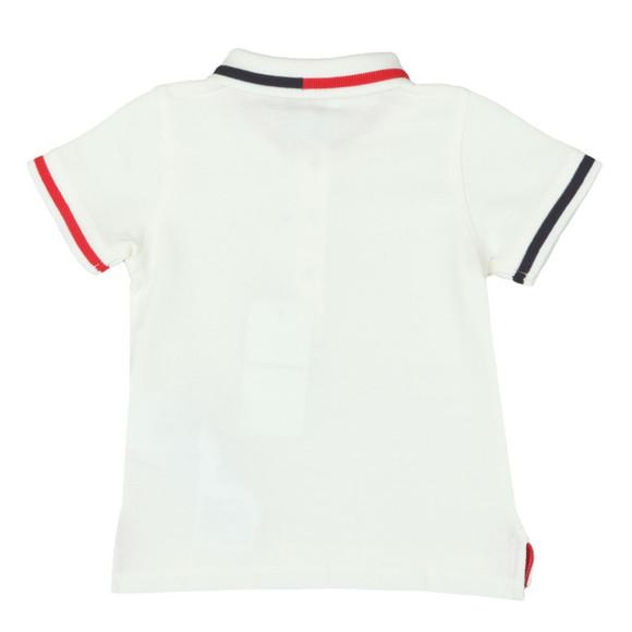 Emporio Armani Boys Off-White Baby 6ZHF01 Tipped Polo Shirt main image