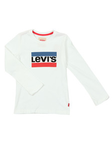 Levi's Boys White Heroel  Long Sleeve T Shirt