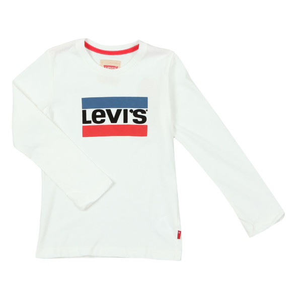 Levi's Boys White Boys Heroel Long Sleeve T Shirt main image