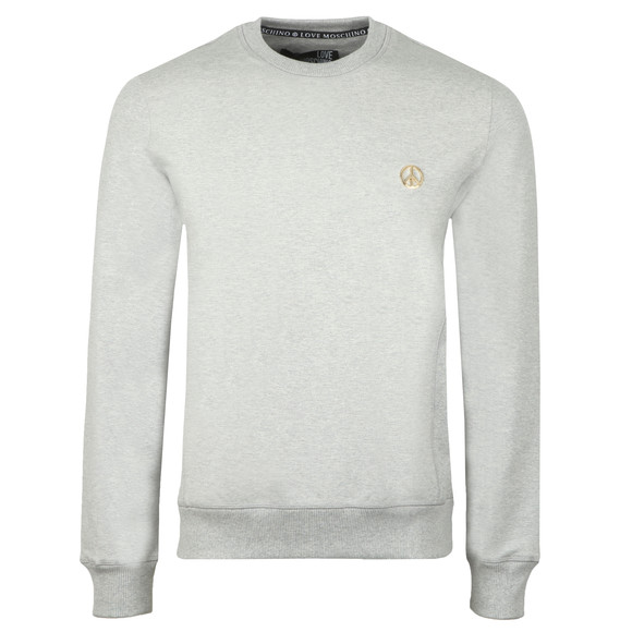Love Moschino Mens Grey Metal Logo Sweatshirt main image