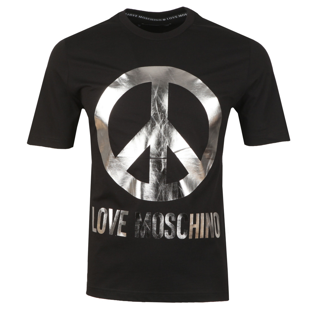 849a7e335 Love Moschino Large Peace Logo T Shirt | Oxygen Clothing