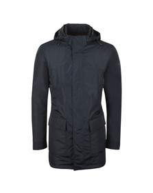 Paul & Shark Mens Blue Yachting Series Hooded Mid Length Jacket