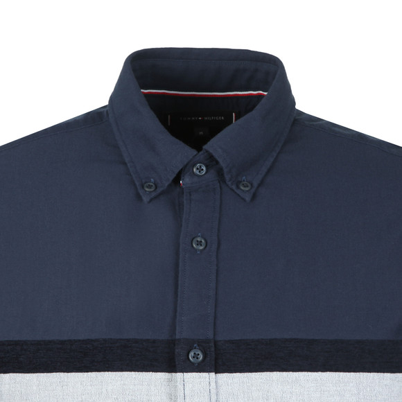 Tommy Hilfiger Mens Blue L/S Chenile Engineered Shirt main image