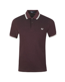 Fred Perry Mens Purple Twin Tipped Polo Shirt