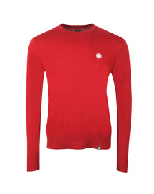 Pretty Green Mens Red Crew Neck Jumper