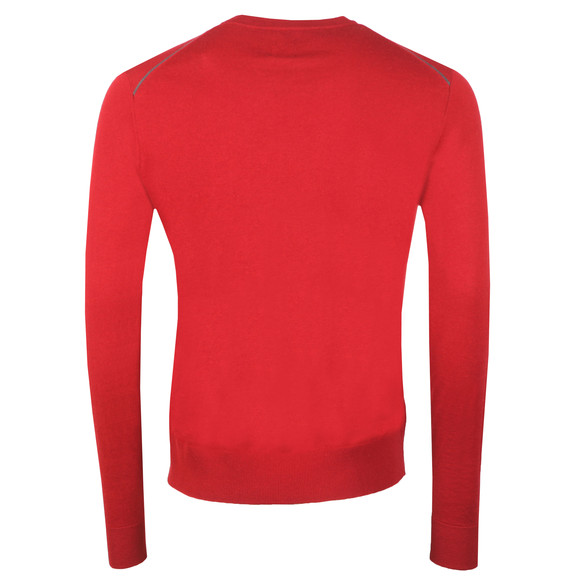 Pretty Green Mens Red Crew Neck Jumper main image