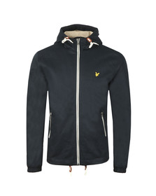 Lyle and Scott Mens Blue Hooded Twill Jacket