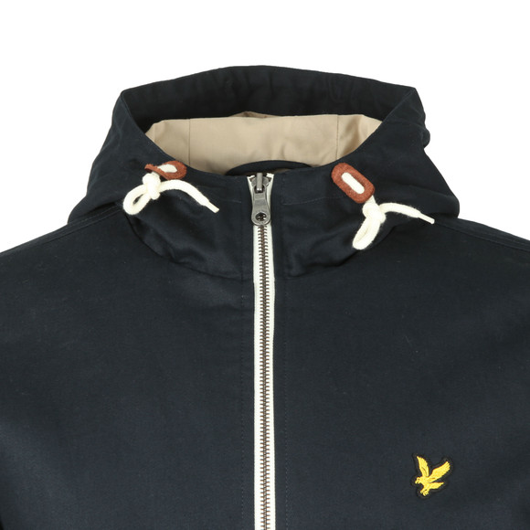 Lyle and Scott Mens Blue Hooded Twill Jacket main image
