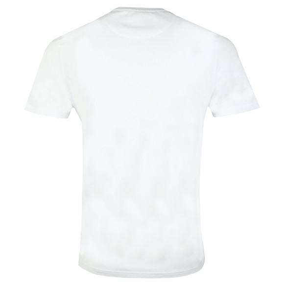 Lyle and Scott Mens White S/S Fabric Mix Tee main image