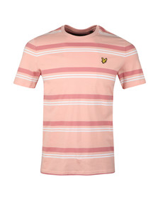 Lyle and Scott Mens Pink S/S Stripe Tee