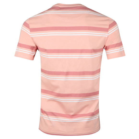 Lyle and Scott Mens Pink S/S Stripe Tee main image