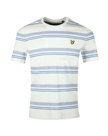 Lyle and Scott Mens White S/S Stripe Tee