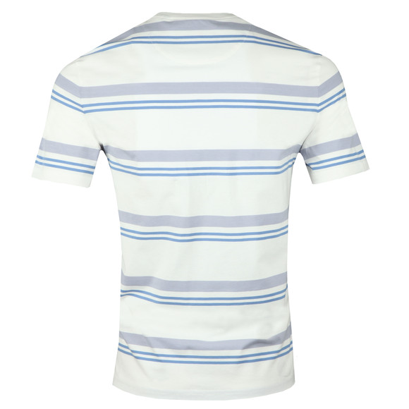 Lyle and Scott Mens White S/S Stripe Tee main image