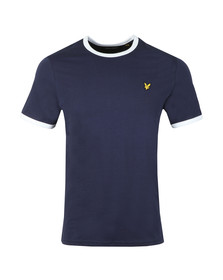 Lyle and Scott Mens Blue Ringer Tee