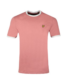Lyle and Scott Mens Pink Ringer Tee