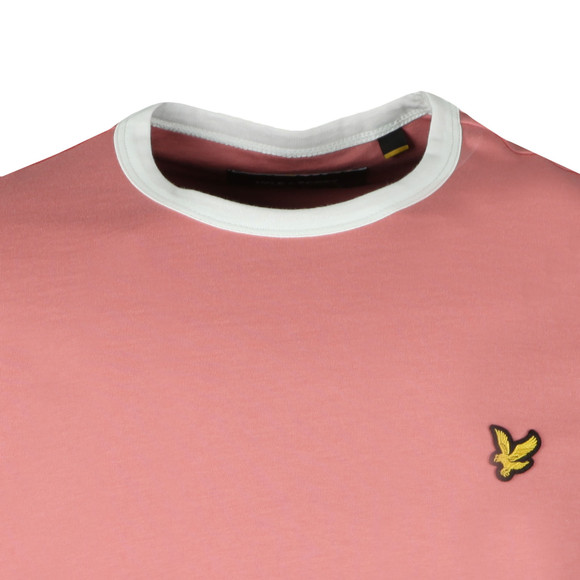 Lyle and Scott Mens Pink Ringer Tee main image