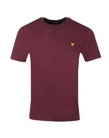 Lyle and Scott Mens Red Basic Tee