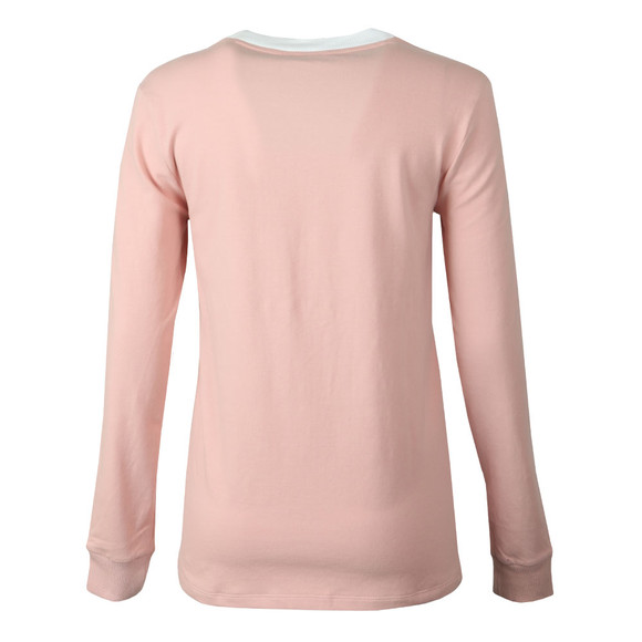 adidas Originals Womens Pink 3 Stripes Long Sleeve T Shirt main image