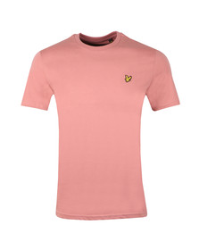 Lyle and Scott Mens Pink Basic Tee