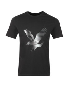 Lyle and Scott Mens Black S/S Logo Tee